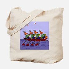 Ducks Rowing Tote Bag