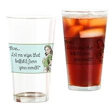 Cute Retro Drinking Glass