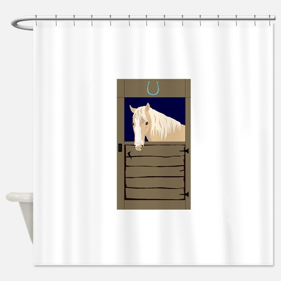 shower curtain for stall shower. Horse In Stall Shower Curtain Curtains  CafePress