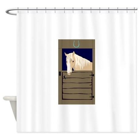 Horse In Stall Shower Curtain