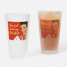 Shit List Drinking Glass