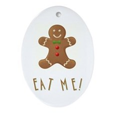 Eat Me Ornament (oval)