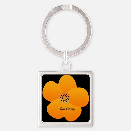 Cute Yellow Flower Square Keychain