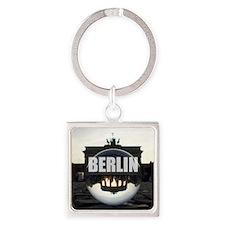 BERLIN Brandenburg Gate - sunset Square Keychain