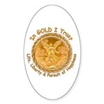 Mex Gold Oval Sticker
