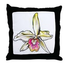 Cool Orchids Throw Pillow