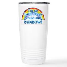 Shit Rainbows Travel Mug