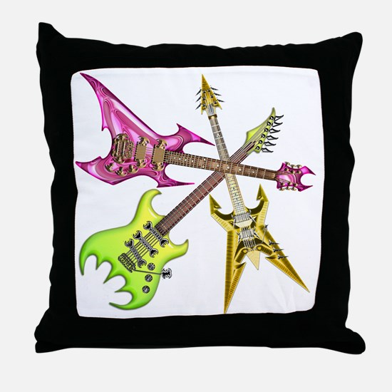 Guitars Heroes 1 Throw Pillow