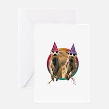 3-meerkat-bd-teddybear.jpg Greeting Cards