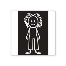 "Cute Stick family car Square Sticker 3"" x 3"""