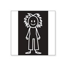 "Cute Stick figures Square Sticker 3"" x 3"""