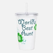 Worlds Best Aunt Acrylic Double-wall Tumbler