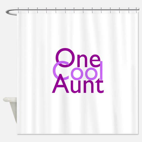 One Cool Aunt Shower Curtain