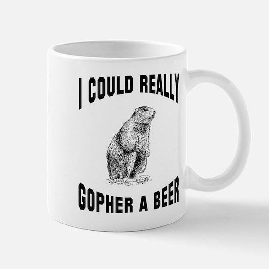Gopher a beer Mug