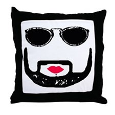 Sunglasses and a Goatee  Throw Pillow