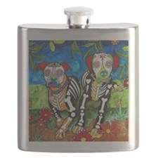 Maggie and Brutus, the Boxers Flask
