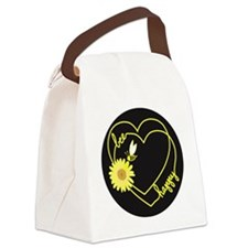 Cute Bee happy Canvas Lunch Bag