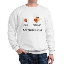 Brain with two kids Sweatshirt