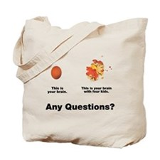 Brain with four kids Tote Bag