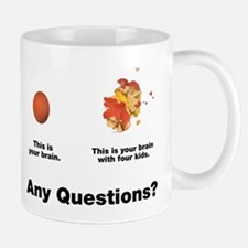 Brain with four kids Mug