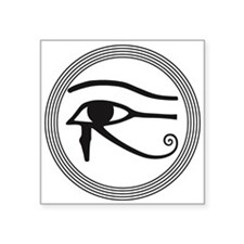 "Eye of Horus Square Sticker 3"" x 3"""