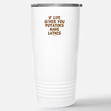 Make Latkes Chanukah Stainless Steel Travel Mug