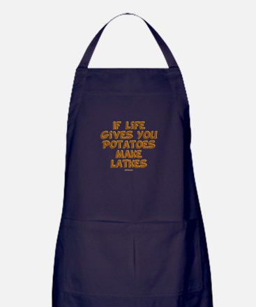 Make Latkes Chanukah Apron (dark)
