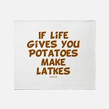 Make Latkes Chanukah Throw Blanket