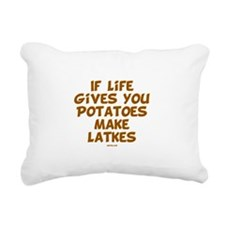 Make Latkes Chanukah Rectangular Canvas Pillow