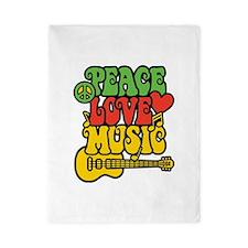 Peace-Love-Music Twin Duvet