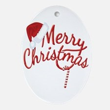 Merry Christmas Ornament (Oval)