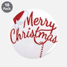 """Merry Christmas 3.5"""" Button (10 pack)"""