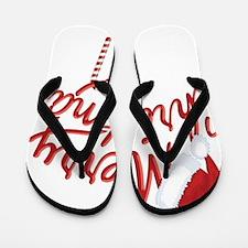 Merry Christmas Flip Flops