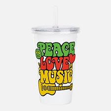 Peace-Love-Music Acrylic Double-wall Tumbler