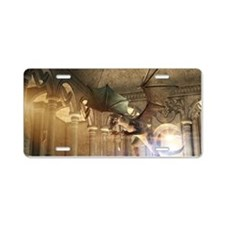 The dragon in the castle Aluminum License Plate