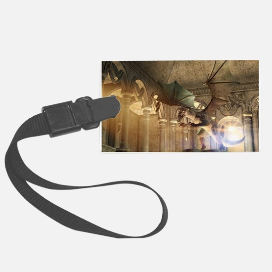 The dragon in the castle Luggage Tag