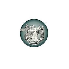 Vancouver Souvenir Mini Button Pin Vancouver Art