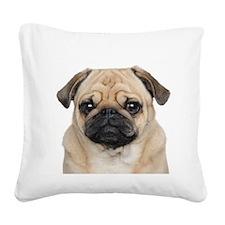 Pug Square Canvas Pillow