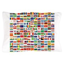 Cute Flags world Pillow Case
