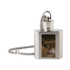 The dragon in the castle Flask Necklace