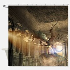 The dragon in the castle Shower Curtain
