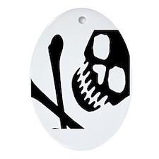 CROSSBONES Oval Ornament