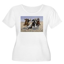 Frederic Remington Aiding a Comr Plus Size T-Shirt
