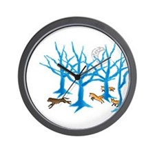 Cute Fox hound Wall Clock