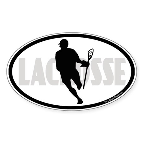 Lacrosse IRock Oval II Sticker (Oval)