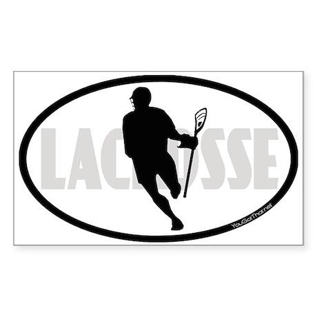 Lacrosse IRock Oval II Sticker (Rectangle)