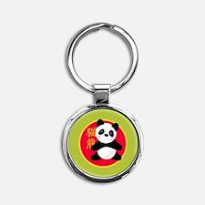 00-panda-circle-button Keychains