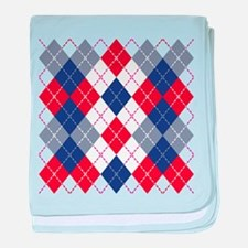Patriotic Argyle baby blanket