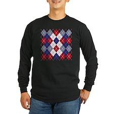 Patriotic Argyle Long Sleeve T-Shirt