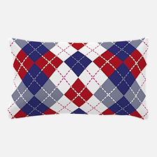 Patriotic Argyle Pillow Case